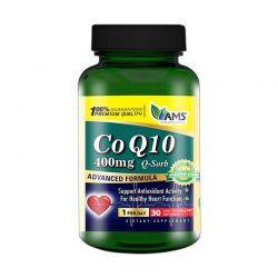 ams coenzyme q10 400mg 30 softgels