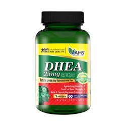 ams dhea 25mg 60 tabs supplement