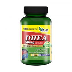 ams dhea 50mg 60 tabs supplement