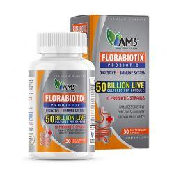 ams florabiotix probiotic 50 billion 30 caps dietary supplement
