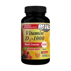 phl vitamin d 1000 melts 100 tabs mixed berry flavor