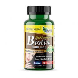 ams biotin 5000 mcg 60 tablets vitamin b7